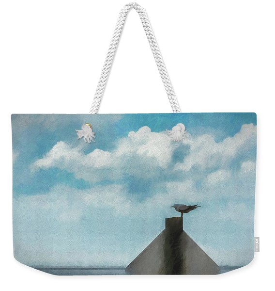 Gull And Sky Weekender Tote Bag