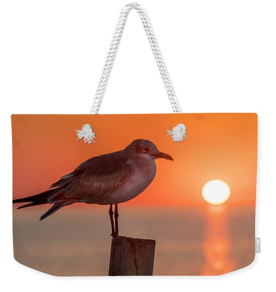 Gull And Sunset Weekender Tote Bag