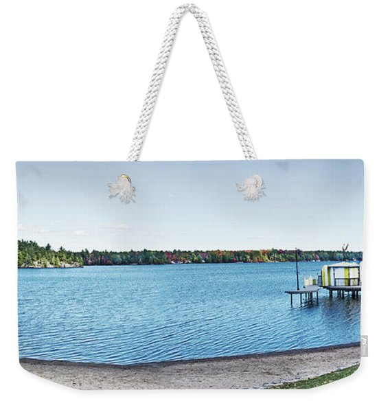 Gull Lake Panorama Weekender Tote Bag