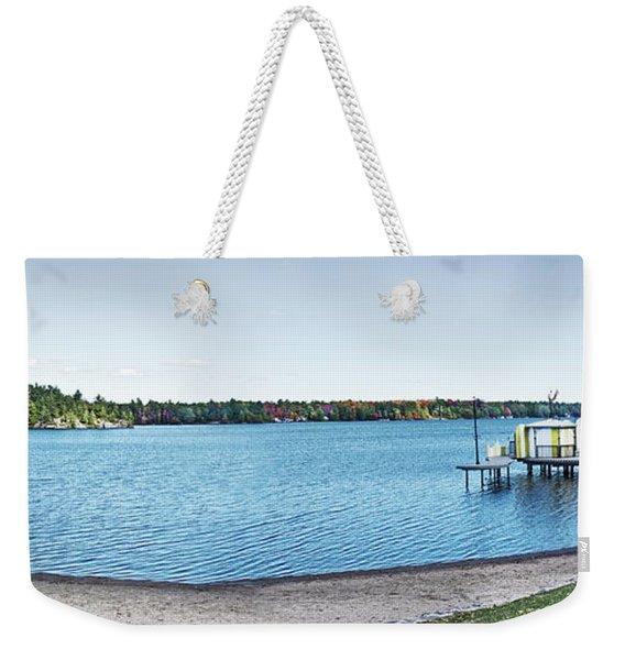 Gull Lake Panorama Weekender Tote Bag