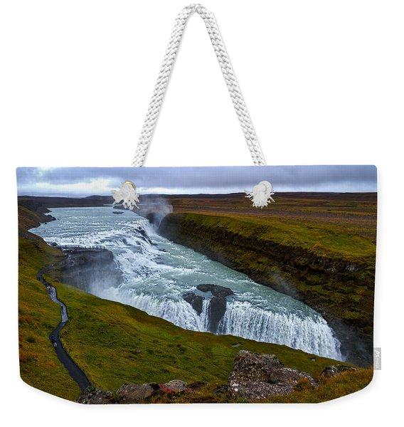 Gullfoss Waterfall #2 - Iceland Weekender Tote Bag