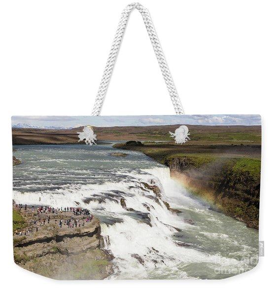 Gullfoss Waterfall In Iceland Weekender Tote Bag