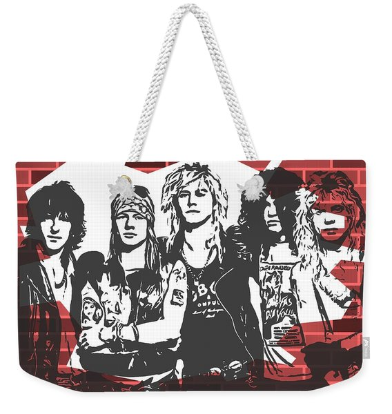 Guns N Roses Graffiti Tribute Weekender Tote Bag