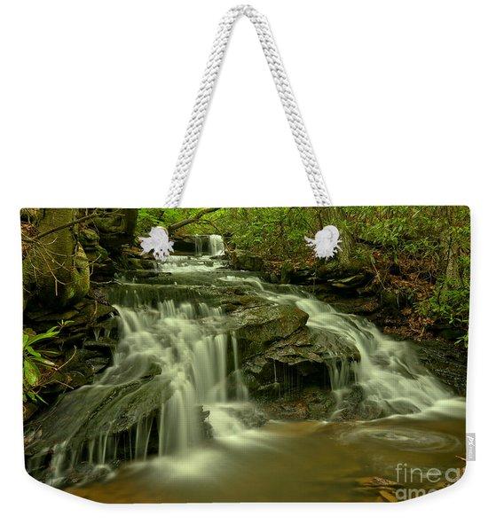 Gushing At Cave Falls Weekender Tote Bag