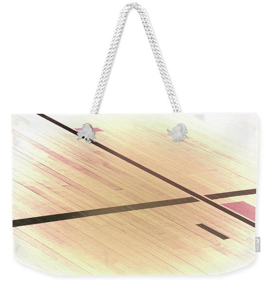 Gym Floor Weekender Tote Bag