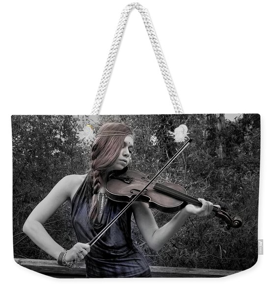 Weekender Tote Bag featuring the photograph Gypsy Player II by Ron Cline