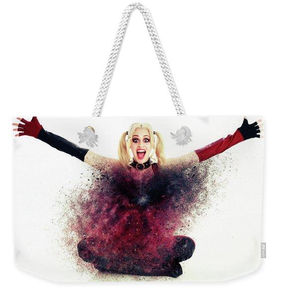 H - A - P - P - Y Weekender Tote Bag