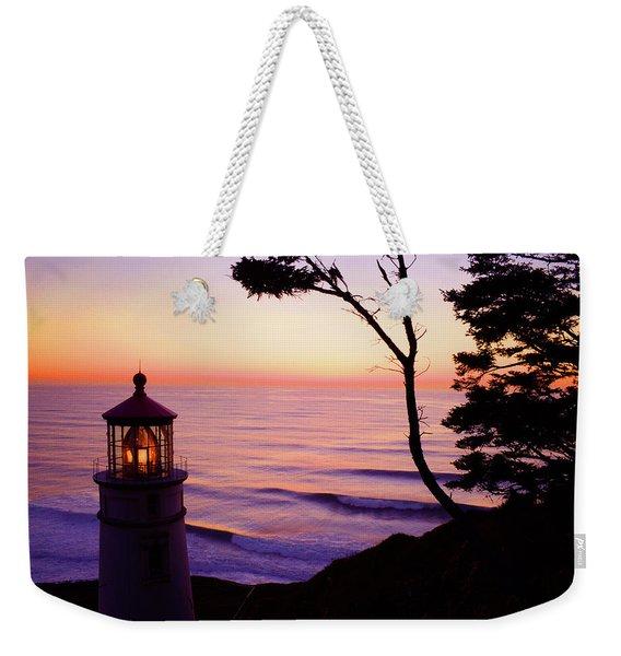 Haceta Head Lighthouse Weekender Tote Bag