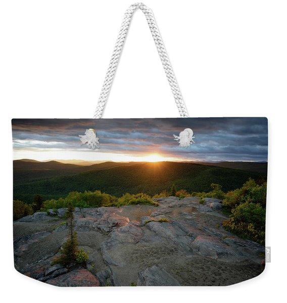 Hadley Mountain Sunset Weekender Tote Bag