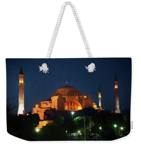 Hagia Sophia Mosque In Instanbul Turkey Weekender Tote Bag