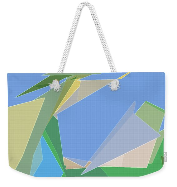 Weekender Tote Bag featuring the digital art Hailing A Taxi by Gina Harrison