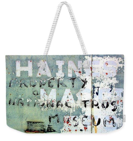 Haines Property Weekender Tote Bag