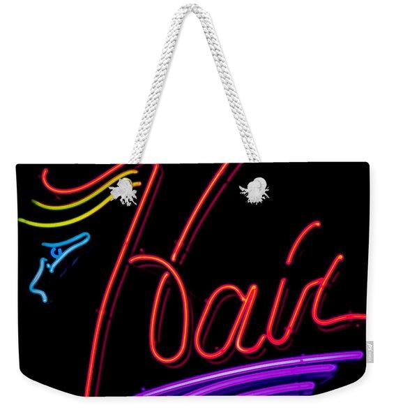 Hair In Neon Weekender Tote Bag