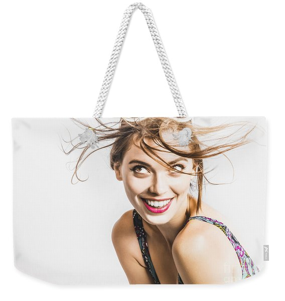 Hair Salon Portrait Weekender Tote Bag