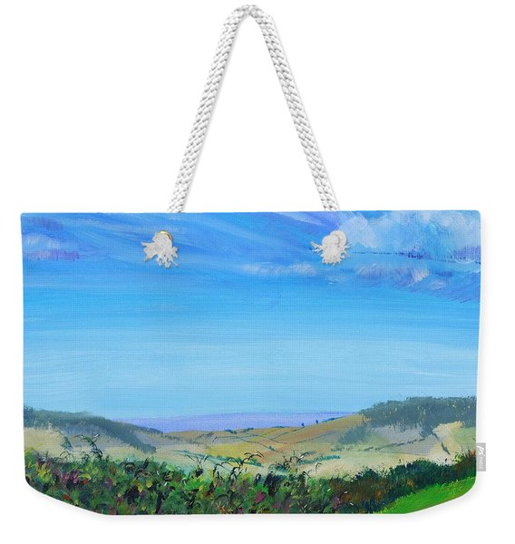 Haldon Hills Sea View Weekender Tote Bag