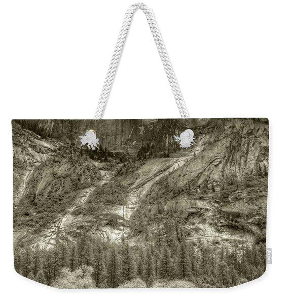 Half Dome Over Mirror Lake Weekender Tote Bag