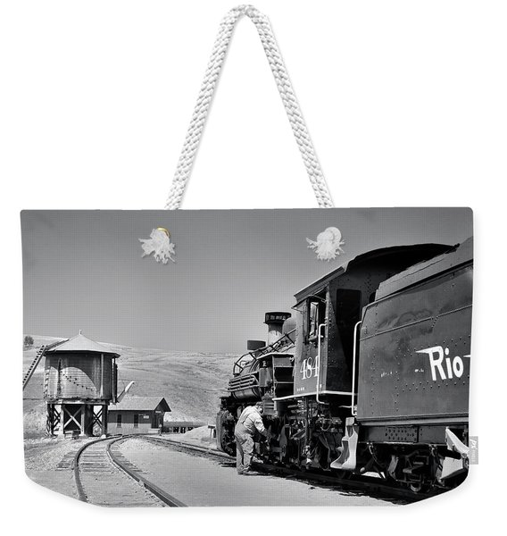 Weekender Tote Bag featuring the photograph Half Way by Ron Cline