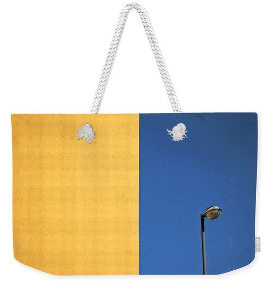 Half Yellow Half Blue Weekender Tote Bag