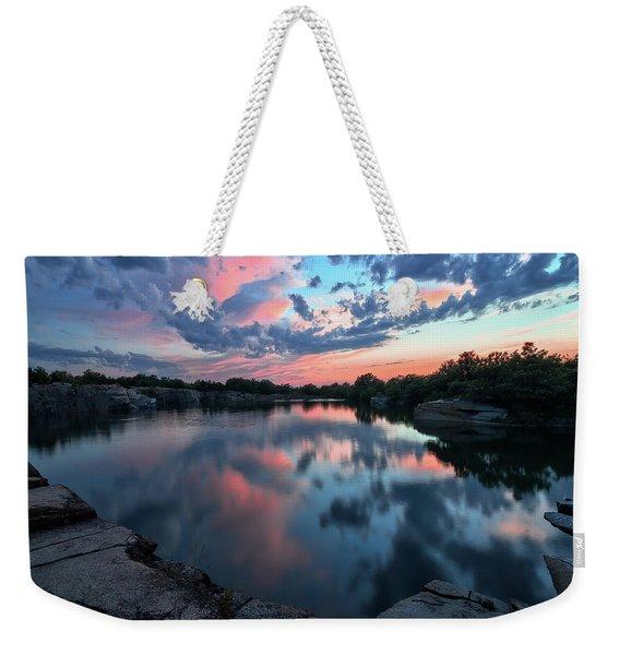 Halibut Pt Quarry Reflection Rockport Ma Weekender Tote Bag