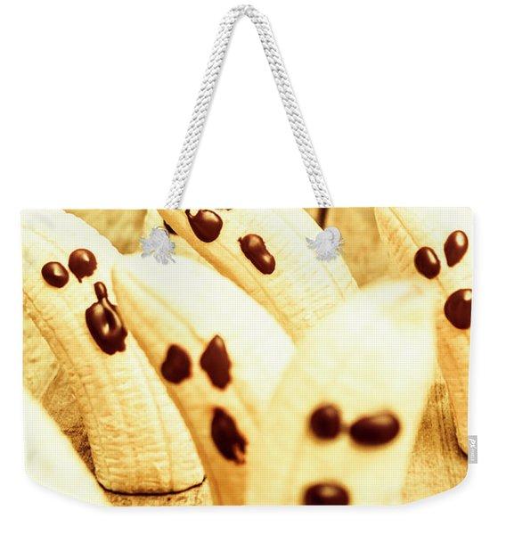 Halloween Banana Ghosts Weekender Tote Bag