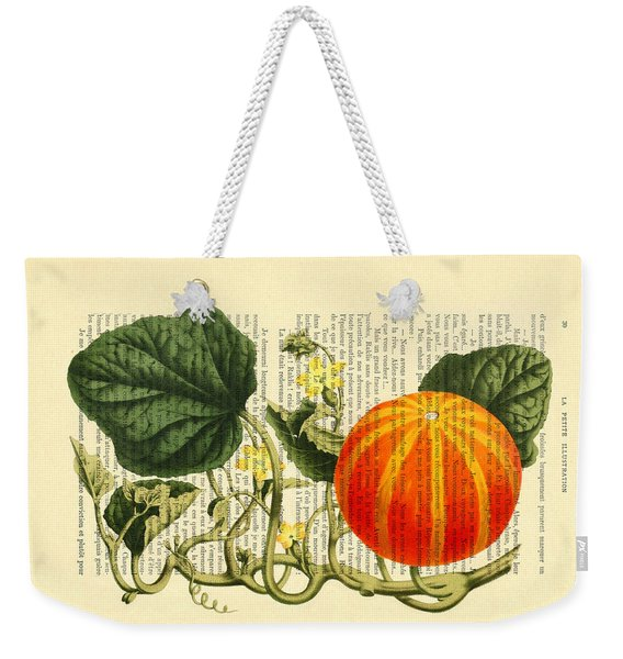 Halloween Pumpkin Antique Illustration Weekender Tote Bag