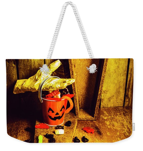 Halloween Trick Of Treats Background Weekender Tote Bag