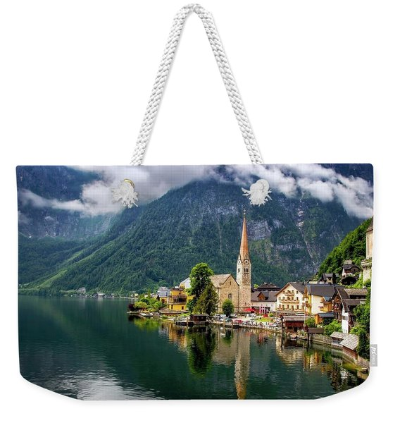 Hallstatt Across The Lake, Austria  Weekender Tote Bag
