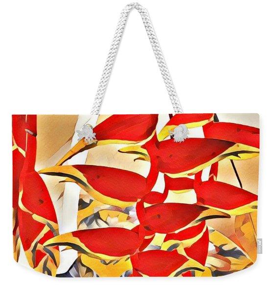Halyconia Bouquet In Orange Weekender Tote Bag