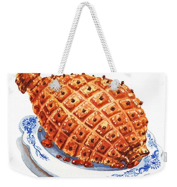 Ham On The Plate Weekender Tote Bag