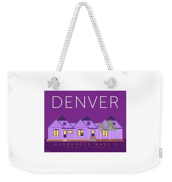 Weekender Tote Bag featuring the digital art Hamburger Mary's by Sam Brennan