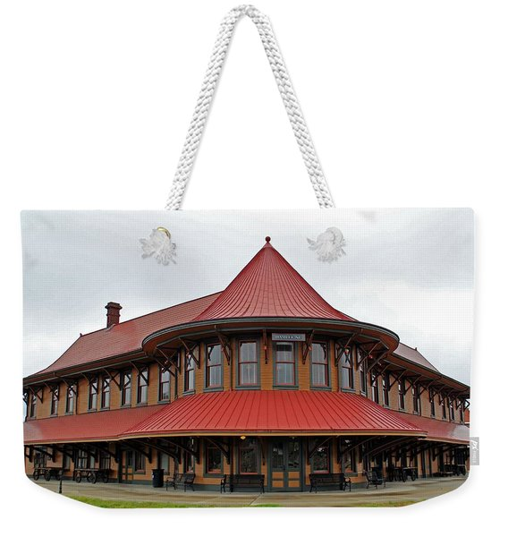 Hamlet Train Station Weekender Tote Bag