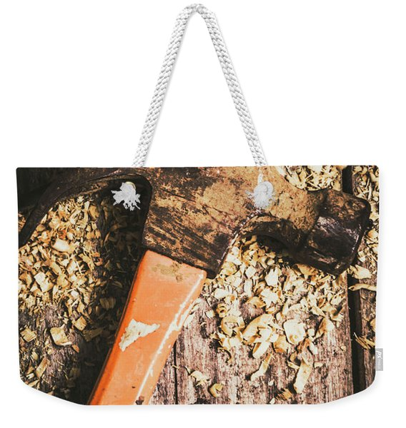 Hammer Details In Carpentry Weekender Tote Bag