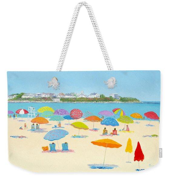 Hampton Beach Umbrellas Weekender Tote Bag