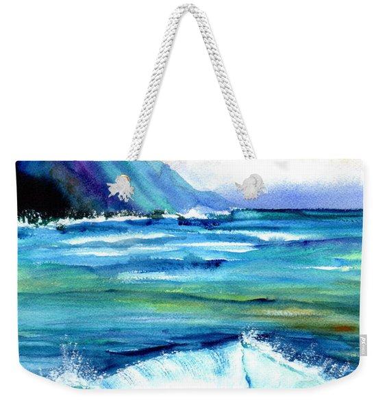 Hanalei Sea Weekender Tote Bag