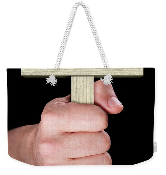 Hand Holding Crucifix Weekender Tote Bag