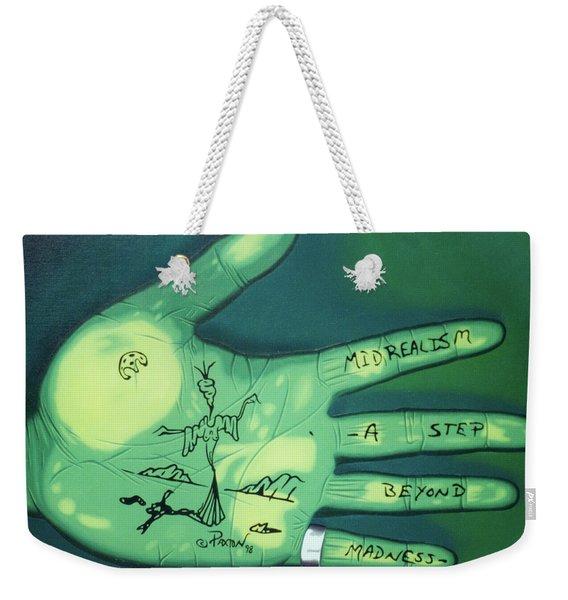 Hand Print Weekender Tote Bag