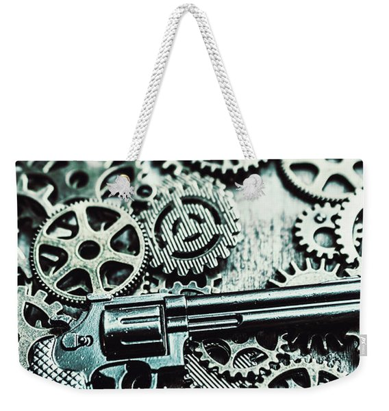 Handguns And Gears Weekender Tote Bag