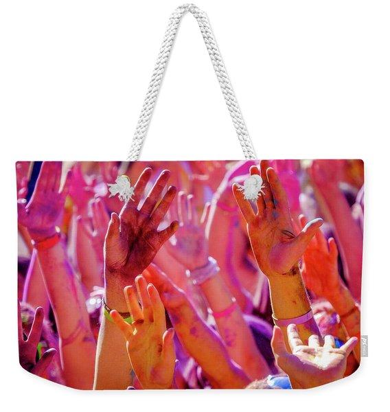 Hands Up-2 Weekender Tote Bag