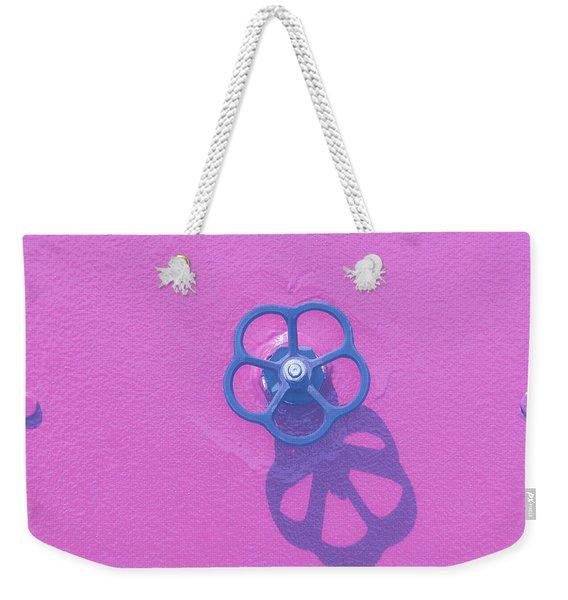 Handwheel - Pink Weekender Tote Bag