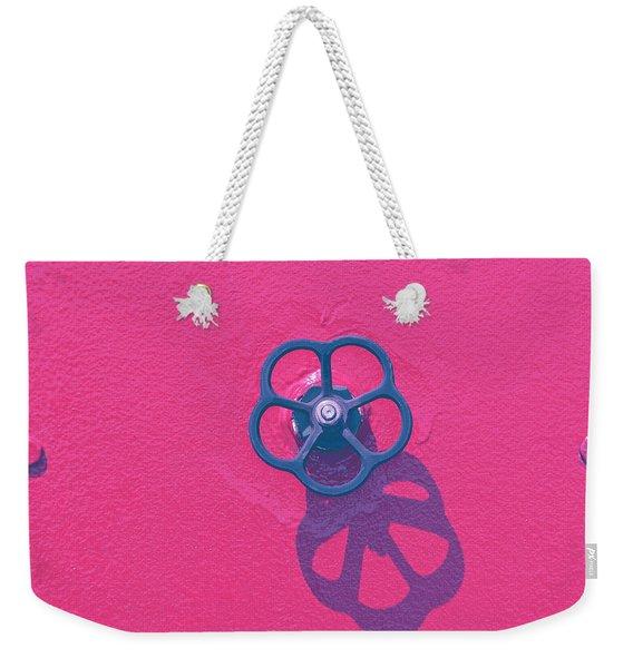 Handwheel - Red Weekender Tote Bag