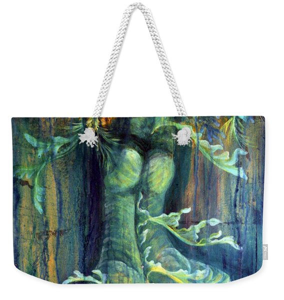 Weekender Tote Bag featuring the painting Hanged Man by Ashley Kujan