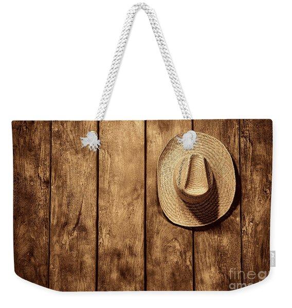 Hanging My Hat Weekender Tote Bag