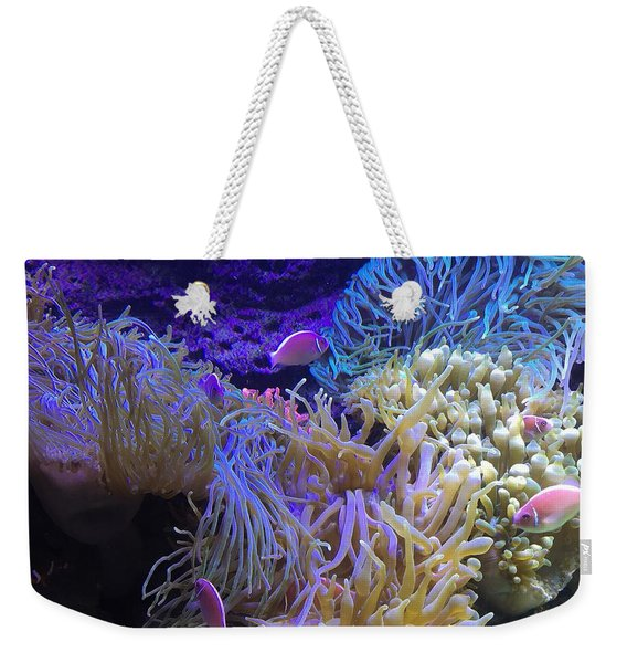 Weekender Tote Bag featuring the pyrography Hanging Out by Michael Lucarelli