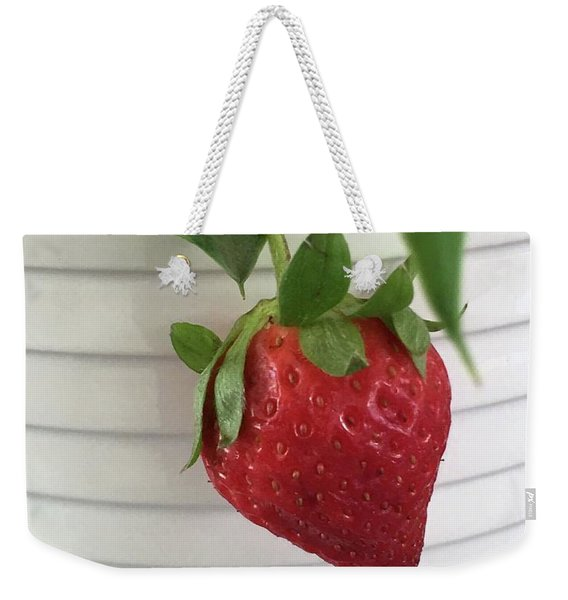 Hanging Strawberry Weekender Tote Bag