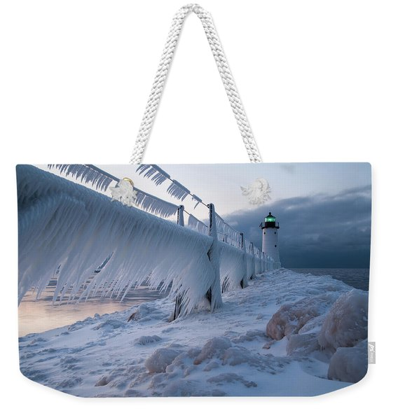Hanging The Ice Out To Dry Weekender Tote Bag
