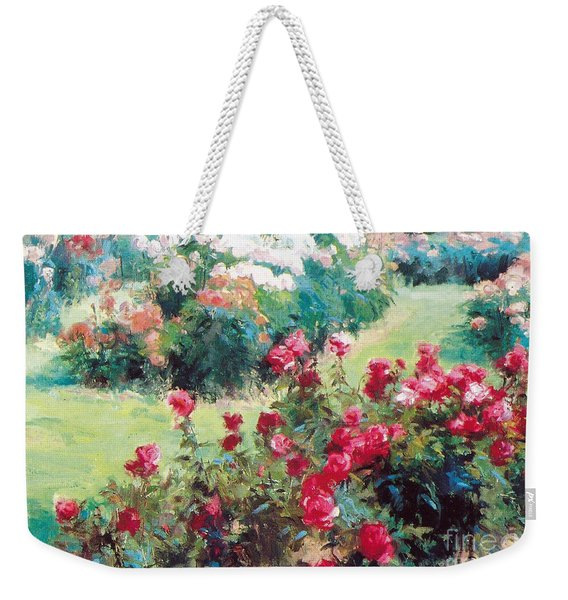 Weekender Tote Bag featuring the painting Happiness by Rosario Piazza