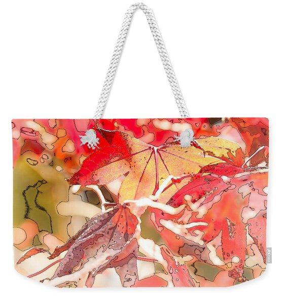 Happy Autumn Weekender Tote Bag
