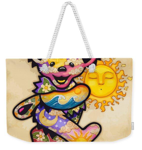 Happy Bear And Sun Weekender Tote Bag