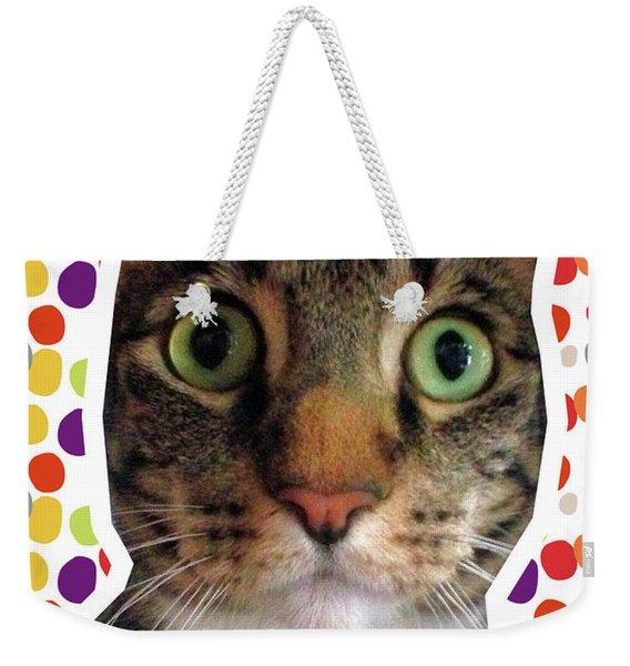 Happy Birthday Cat- Art By Linda Woods Weekender Tote Bag