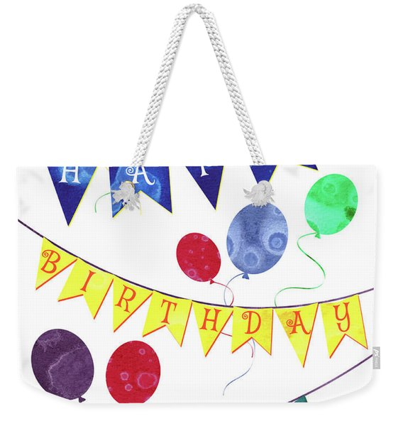 Happy Birthday Flag Weekender Tote Bag